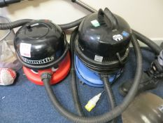 Two Numatic vacuum cleaners* This lot is located at Unit 15, Horizon Business Centre, Alder Close,