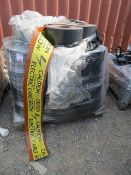 Two pallets of rubberised cable notification reels 'Caution Electric Cable Below' approx. 80 reels