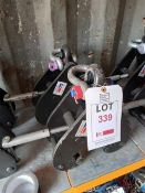 2 x Lifting Gear S.W.L 5000KGS beam clamps (90-130mm), serial numbers T21040773 & T21040771. *N.B.