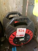Two sets of 4 socket cable reels 25M *This lot is located at Gibbard Transport, Fleet Street