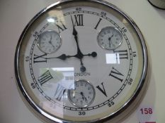 London Wall Clock with New York, Sydney & Paris Inner Clocks* This lot is located at Unit 15,