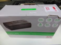 APC Easy UPS (boxed unused) * This lot is located at Unit 15, Horizon Business Centre, Alder