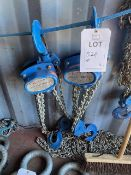 Two Lifting Gear 3000Kg chain hoists model HSZ-A619. *N.B. This lot has no record of Thorough