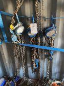 Three Lifting Gear 3000Kg chain hoists model HSZ-A619. *N.B. This lot has no record of Thorough