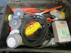 Case containing various small tools, tape, Delta DTB 4824 temperature controller & two incomplete