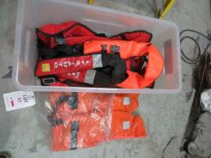 Contents of shelf to include life jackets, Kikusui PCR 200M AC power supply & four hard hats *