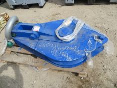 Crane Pulley and 55 ton shackle (unused) *N.B. This lot has no record of Thorough Examination. The