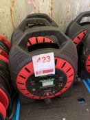 Three sets of 4 socket cable reels 25M *This lot is located at Gibbard Transport, Fleet Street