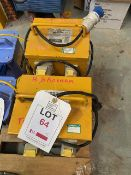 Two Faithfull 110V vented heater transformers * This lot is located at Unit 15, Horizon Business