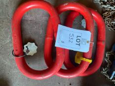 Three 15 tonne lifting rings. *N.B. This lot has no record of Thorough Examination. The purchaser