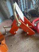 Tigar 3 tonne lifting beam clamp. *N.B. This lot has no record of Thorough Examination. The