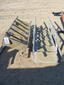 Two aluminium adjustable gantry steps with side rails *This lot is located at Gibbard Transport,