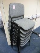 Seven Steel Frame Chairs Grey Cloth* This lot is located at Unit 15, Horizon Business Centre,