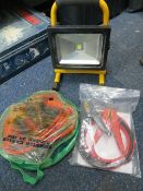 Two sets of jump leads XQ-Lite XQ 1280S 10W LED rechargeable portable light * This lot is located at