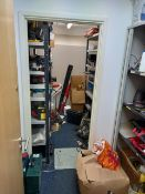 """Three Bays of Shelving 6' 10""""H x 1' 4"""" W x 3' L & a Tambour Cupboard NOTE Collection last day of"""