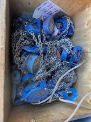 Crate & Contents to include eight 3 tonne chain blocks. *N.B. This lot has no record of Thorough