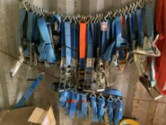 A quantity approx. 50 Ratchet Straps used *This lot is located at Gibbard Transport, Fleet Street