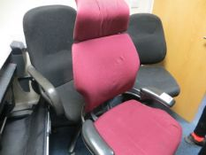 Three various high back chairs * This lot is located at Unit 15, Horizon Business Centre, Alder
