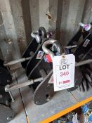 2 x Lifting Gear S.W.L 5000KGS beam clamps (90-130mm), serial numbers T21040761 & T21040770. *N.B.