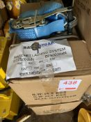 Two boxes of Unused Ratchet Lashings 6 T , 6 M length *This lot is located at Gibbard Transport,