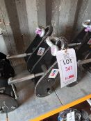 2 x Lifting Gear S.W.L 5000KGS beam clamps (90-130mm), serial numbers T21040762 & T21040756. *N.B.