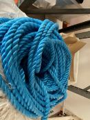Two coils of blue PP 22mm rope * This lot is located at Unit 15, Horizon Business Centre, Alder
