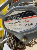 TBM Chain Block 1 tonne 3m s/n 802083. *N.B. This lot has no record of Thorough Examination. The