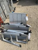 3 x Aluminium fold away work platforms 50cm height *This lot is located at Gibbard Transport,