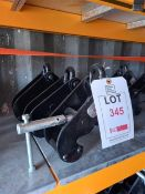 3 x Lifting Gear S.W.L 2000KGS beam clamps (70-230mm), serial numbers 9108319, 3219152 & 3219143. *