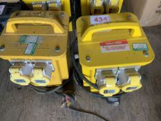 Two 110v Transformers *This lot is located at Gibbard Transport, Fleet Street Corringham, Essex SS17