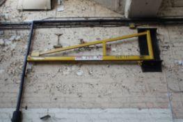 Steel Fabricated wall mounted swing Jib Frame, 2m,