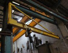 Steel Fabricated wall mounted swing Jib Frame, 4.5