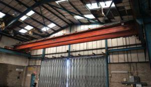 7.5 tonne twin beam Overhead Gantry Crane, wireles