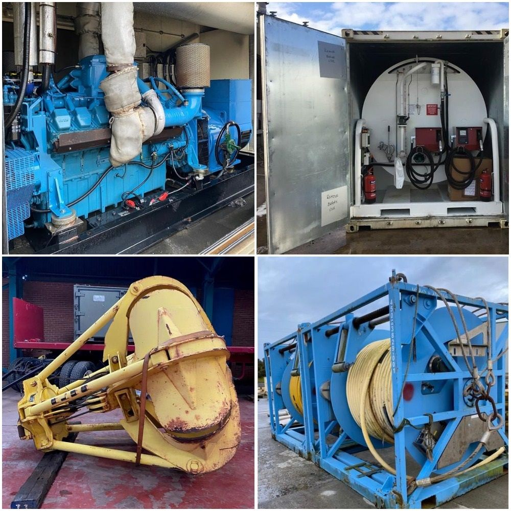 Online Auction of Generators, Transformers and Battery Packs