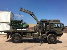 Man HX60 4x4 Flatbed Crane Truck (Ex MOD)