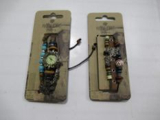 A box of Hippie Chic 'Bazaar' watch and 'Boho' bracelets