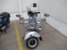 A LML Star Deluxe Scooter