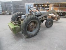 Massey Ferguson tractor with lifting attachment and counter balance