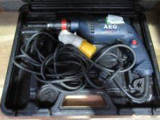 AEG drill (110V) in case