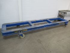 Car- o- Liner Vehicle Jig with two portable racks of tooling. See Lot 4B for Engine.
