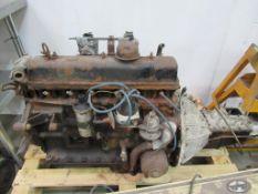 A Triumph Six Cylinder Petrol Engine c/w Gearbox