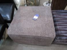 Ex-Wayfair brown upholstered footstool