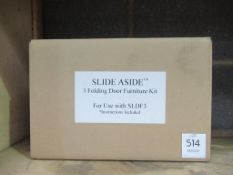 Slide Aside' folding door furniture kit