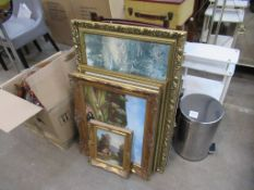 Miscellaneous items including framed art, table companion set etc.