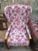 A HSL wingback chair