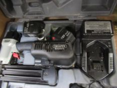 Draper Expert cordless air gun c/w batteries and charger in case