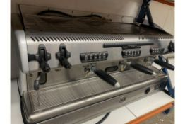A used La Spaziale 3 Group commercial coffee machine