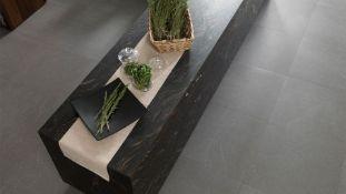 7.1 Square Meters of Porcelanosa Technic Dark Wall and Floor Tiles. 59.6x59.6cm per tile. 1.42m2 per