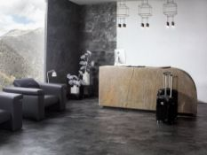 10.01 Square Meters of Porcelanosa Mirage Dark Wall and Floor Tiles. 59.6x120cm per tile. The images