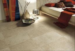 8.52m2 Hama Beige Wall and Floor Tiles.450x450mm per tile, 10mm thick. Initially ceramic floor and